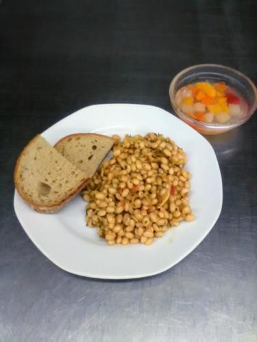 Italské fazole s petrželkou a sýrem